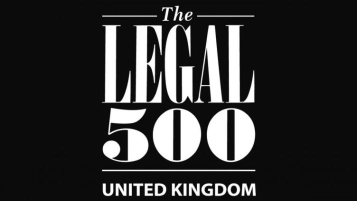 Prince Evans recognised by higher ranking in the Legal 500!