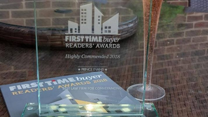 Highly Commended for our Conveyancing services as a Law Firm.