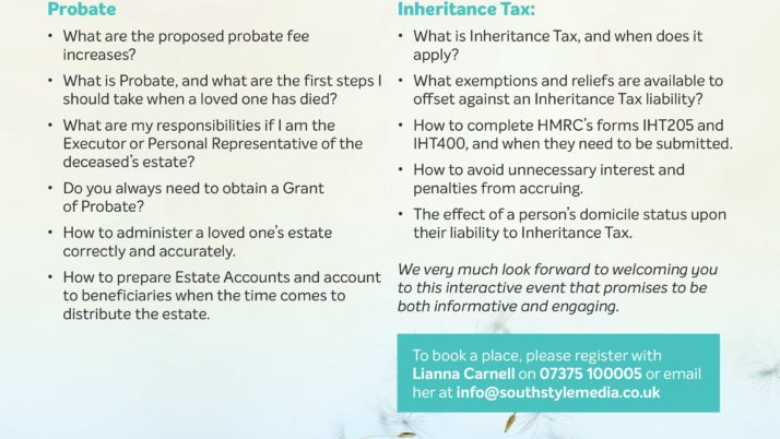 Free Seminar: Understanding Probate and Inheritance Tax